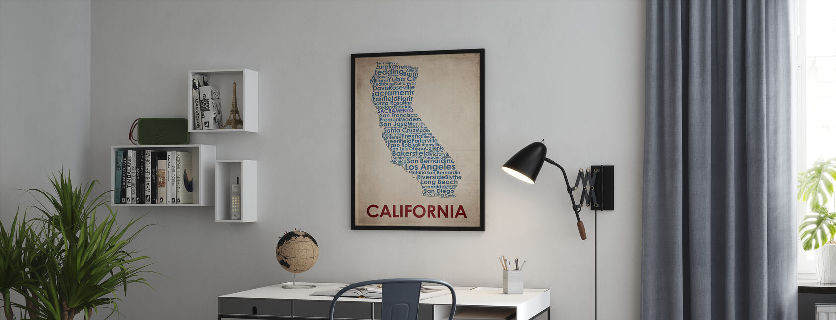 California Map - Framed print - Office