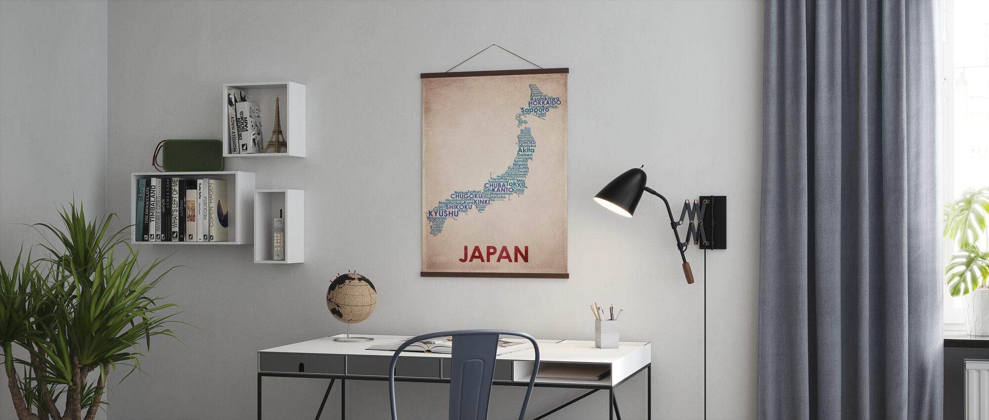 Japan Kaart - Poster - Kantoor