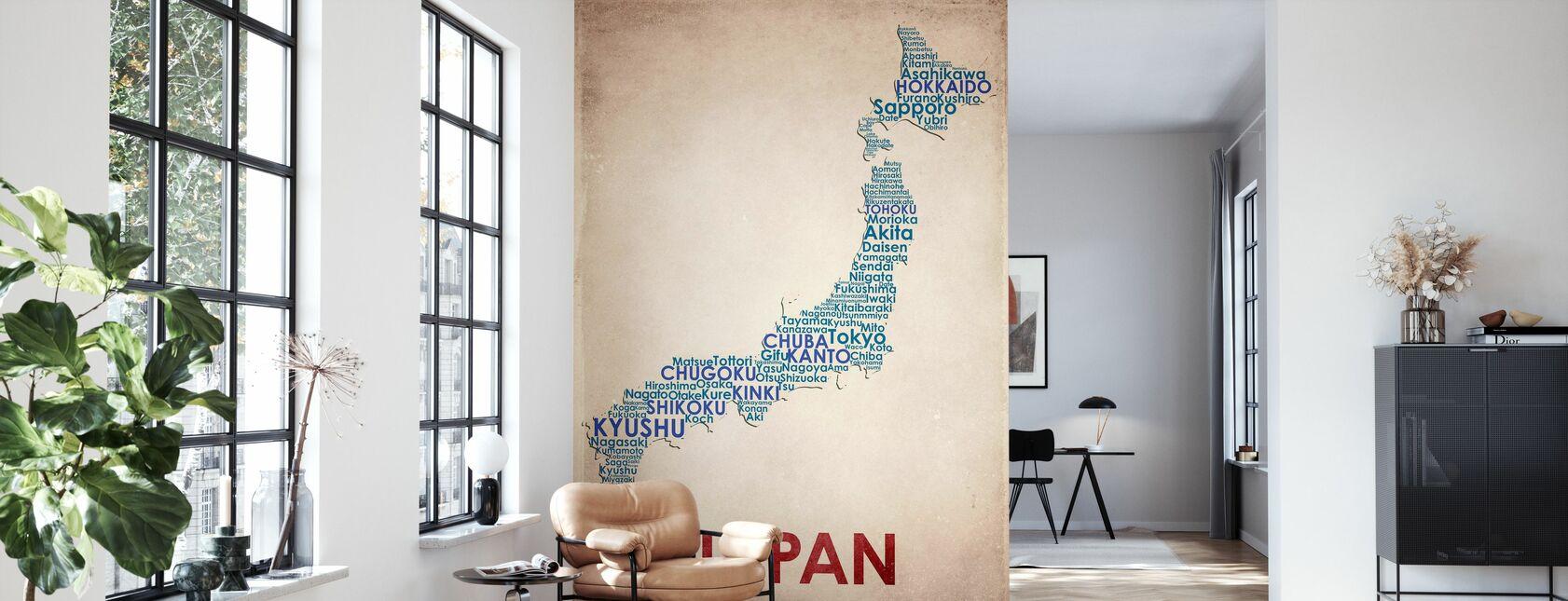 Japan Map - Wallpaper - Living Room