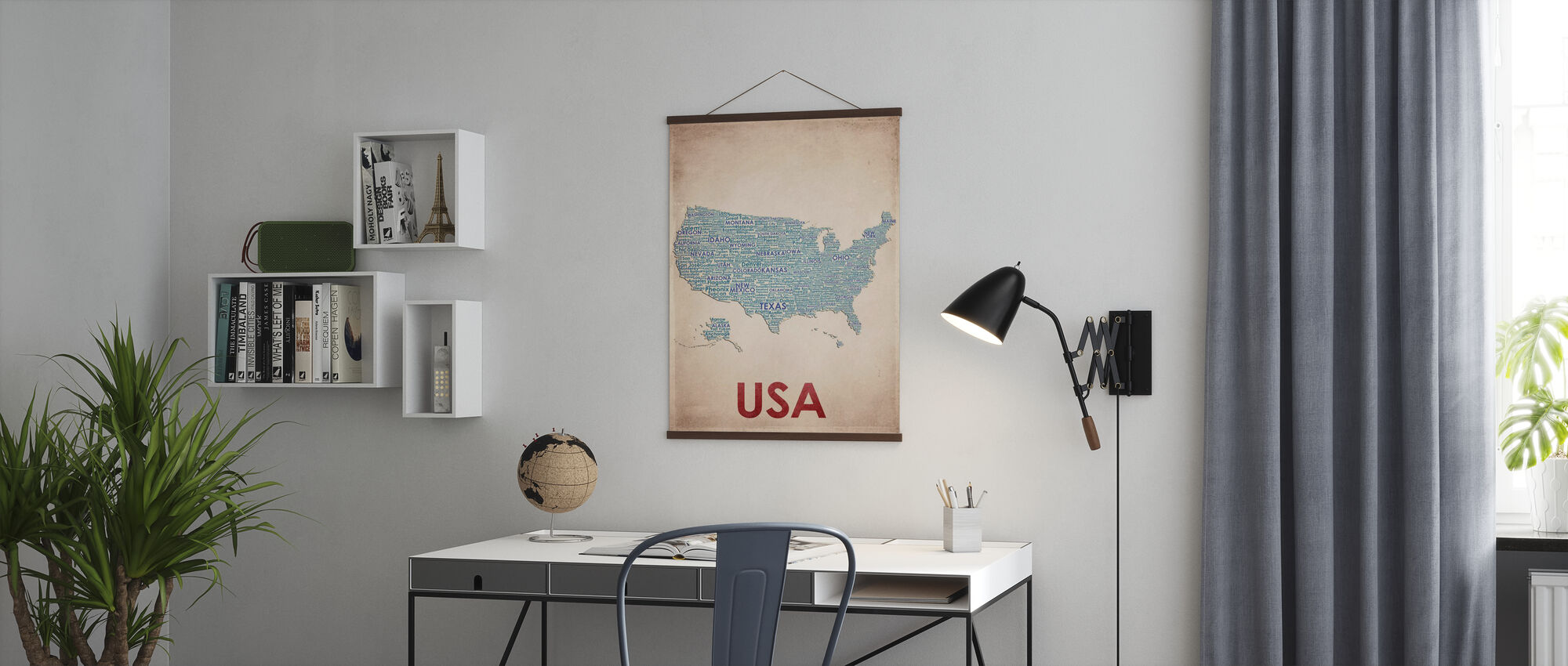 USA Map - Poster - Office