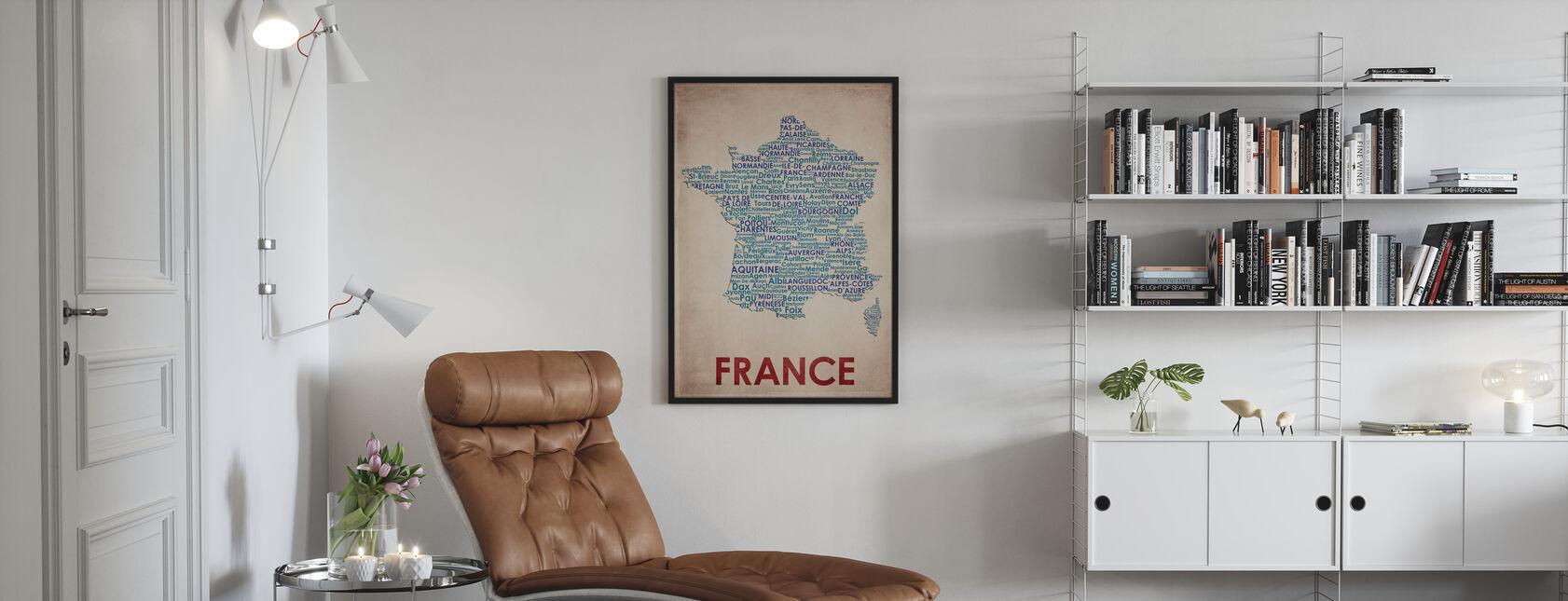 France Map - Framed print - Living Room