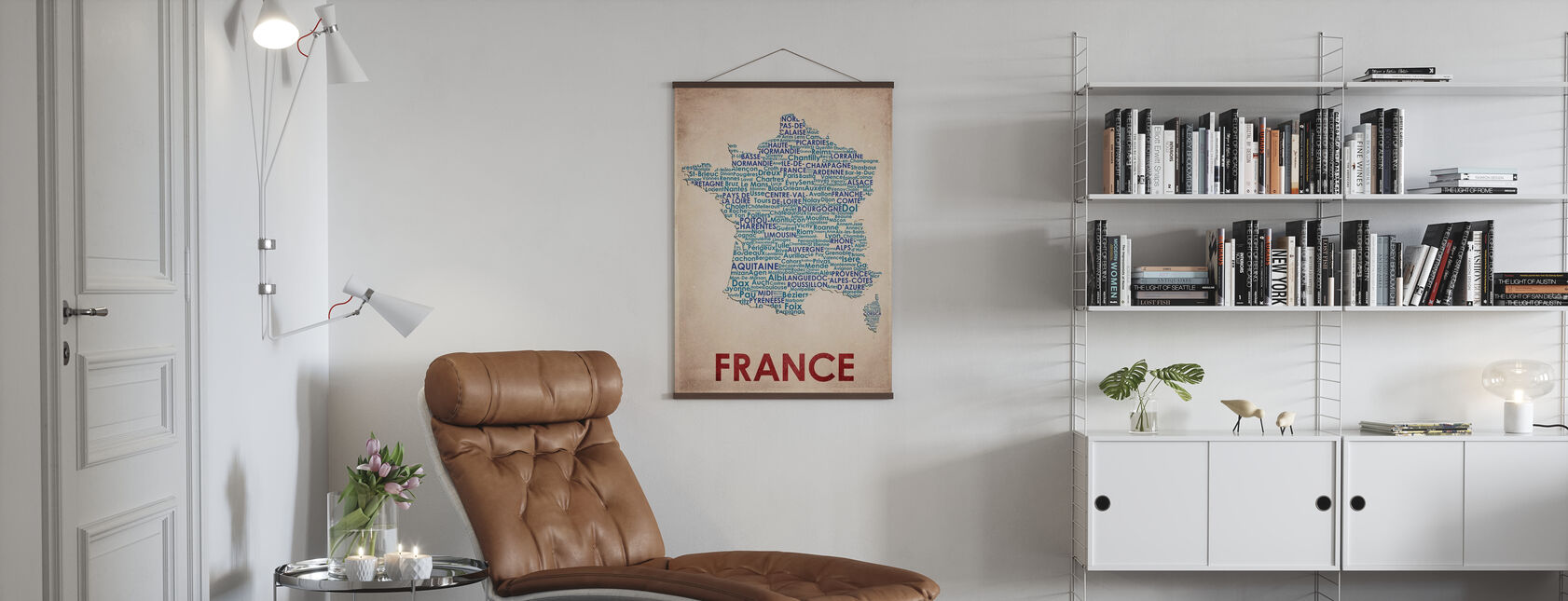 Frankrijk Kaart - Poster - Woonkamer