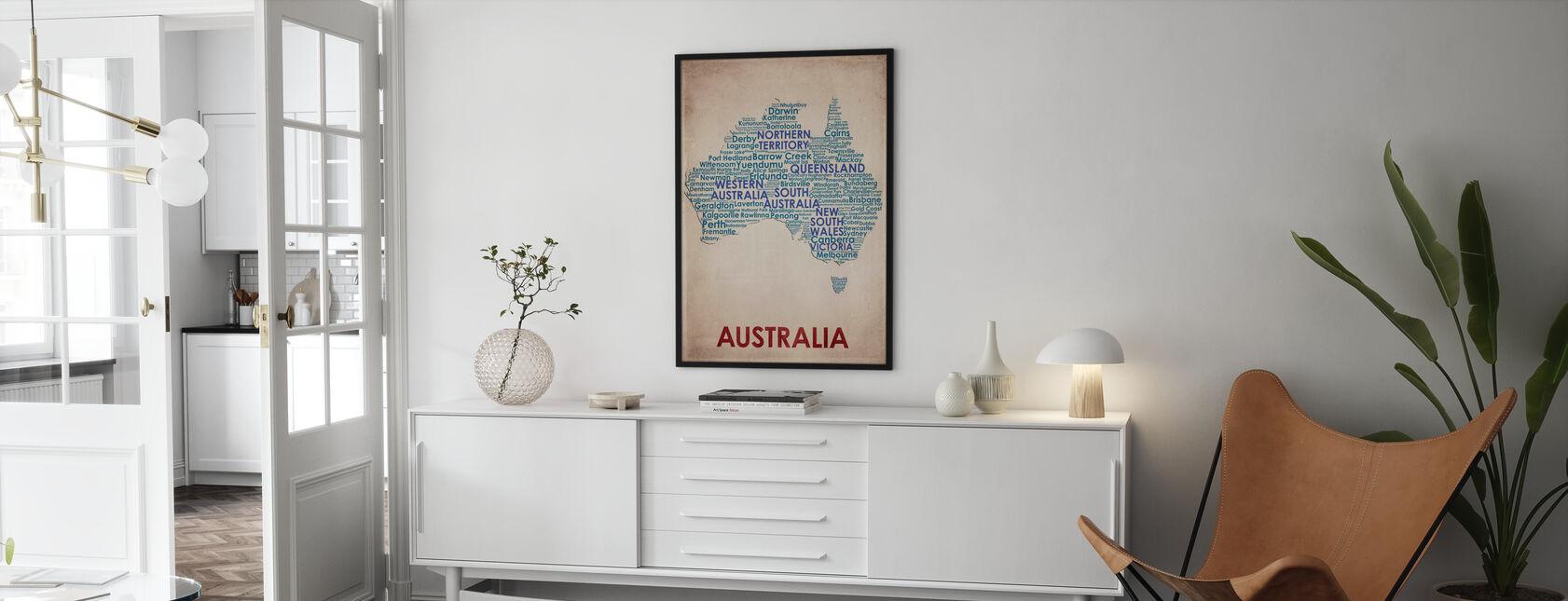 Australia Map - Poster - Living Room