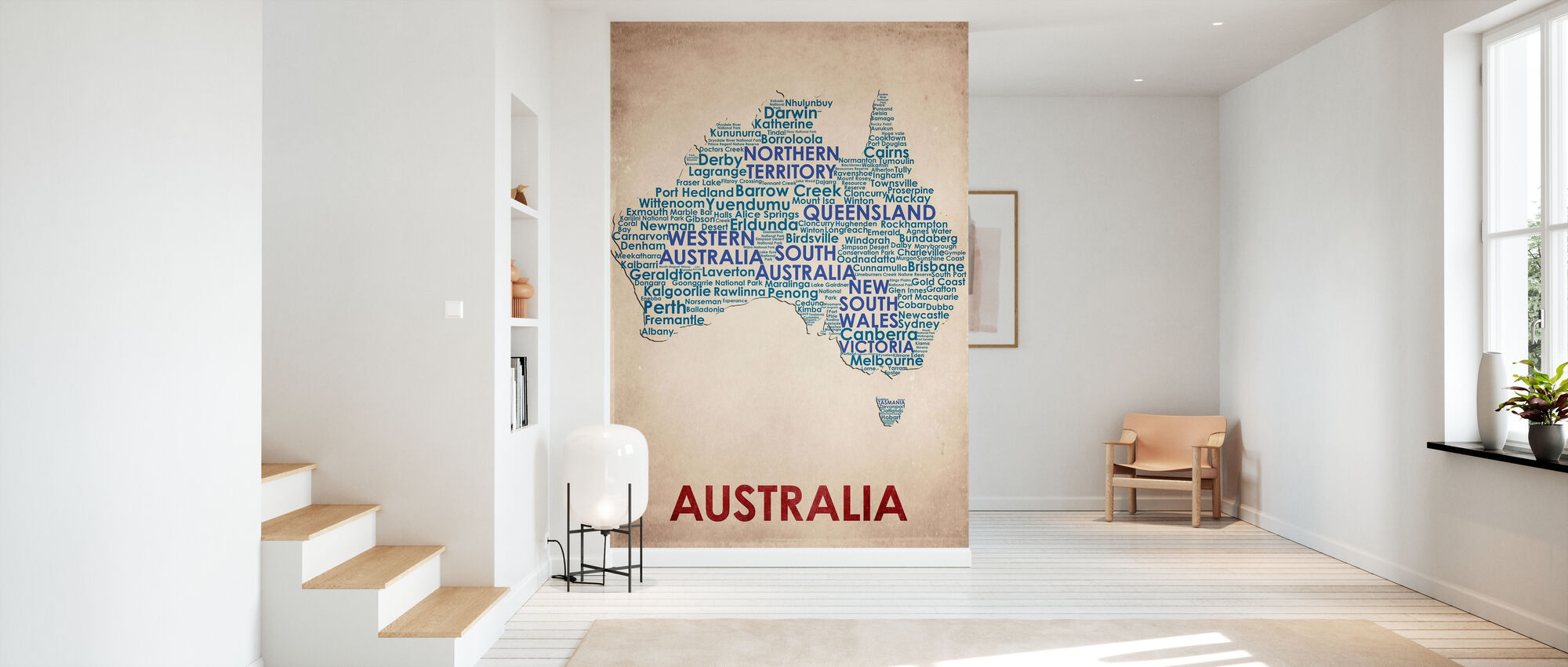 Australia Map - Wallpaper - Hallway