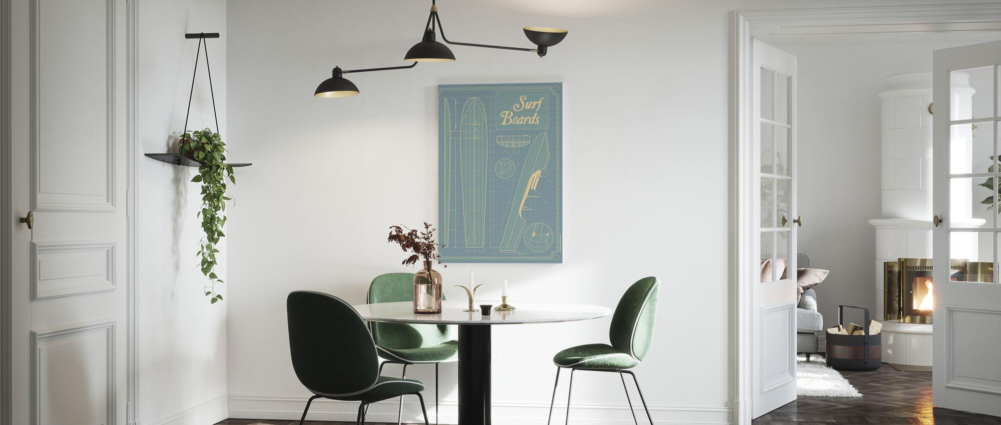 Surf Boards - Canvas print - Kitchen