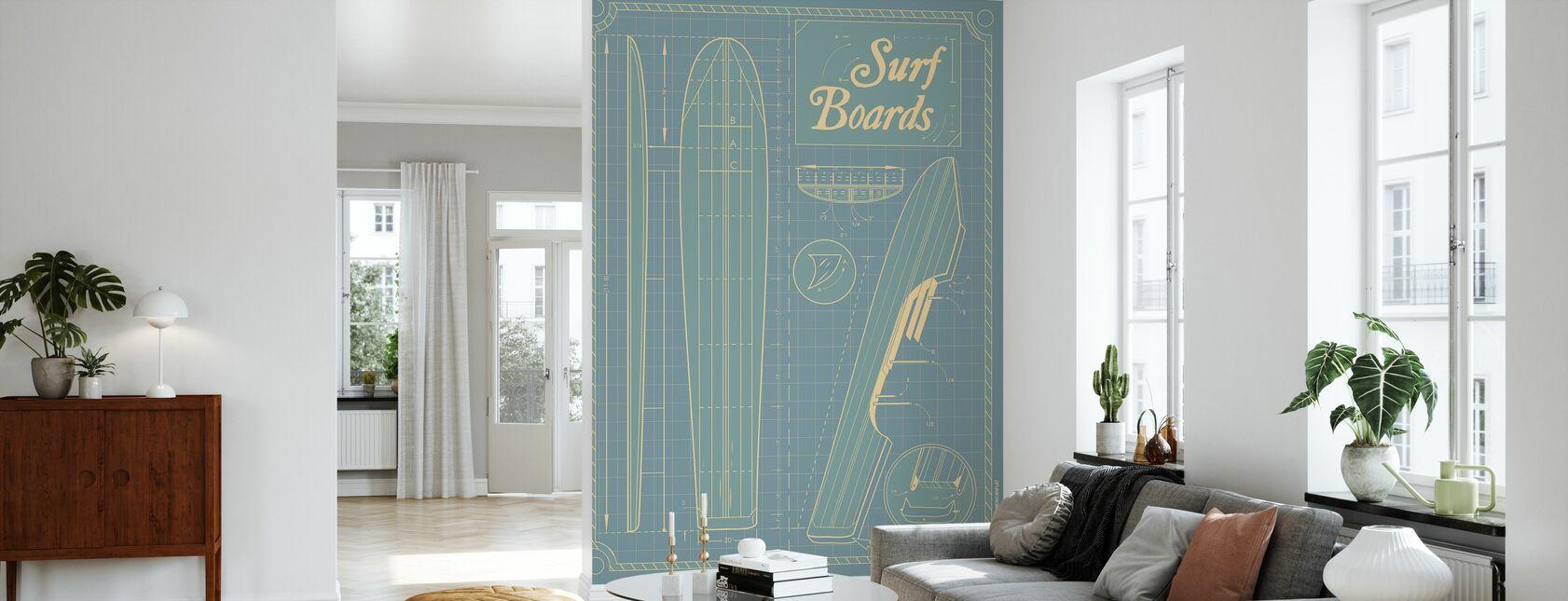 Surf Boards - Wallpaper - Living Room