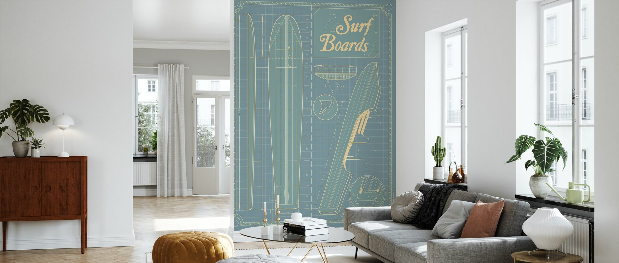 Surffilaudat - Tapetti - Olohuone
