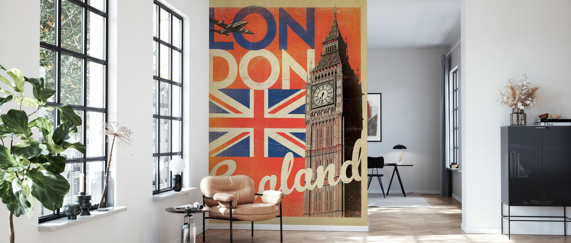 London - Wallpaper - Living Room