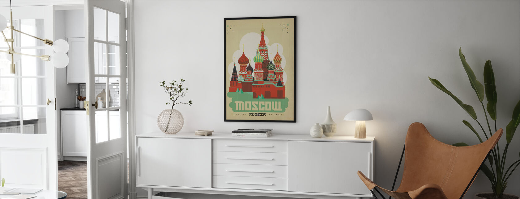 Moscow - Framed print - Living Room