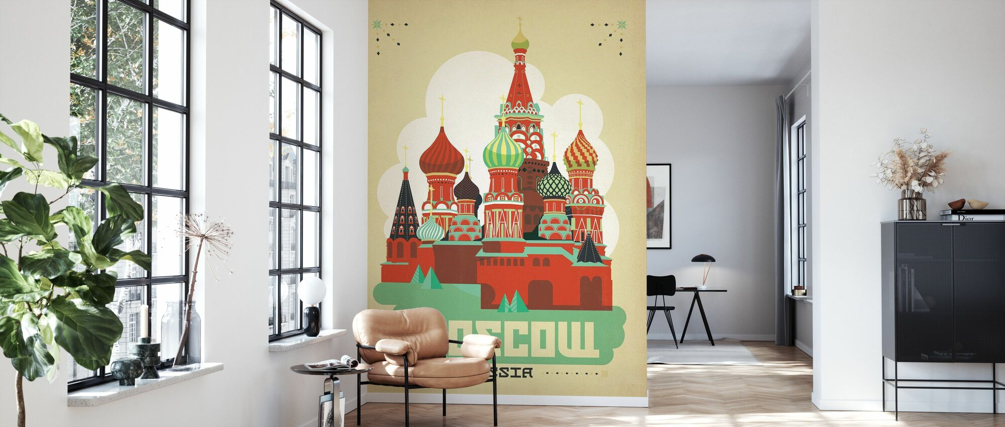 Moscow - Wallpaper - Living Room