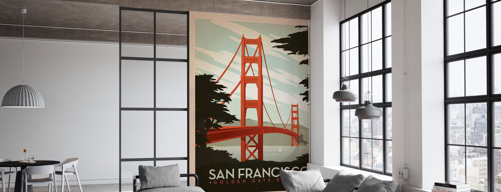 San Francisco - Behang - Kantoor
