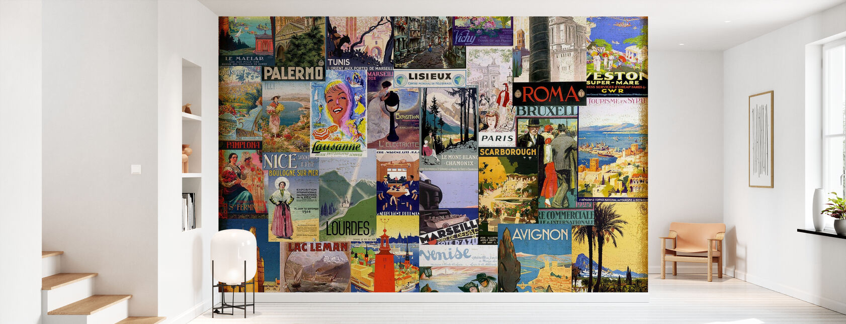 European Cities Collage - Wallpaper - Hallway