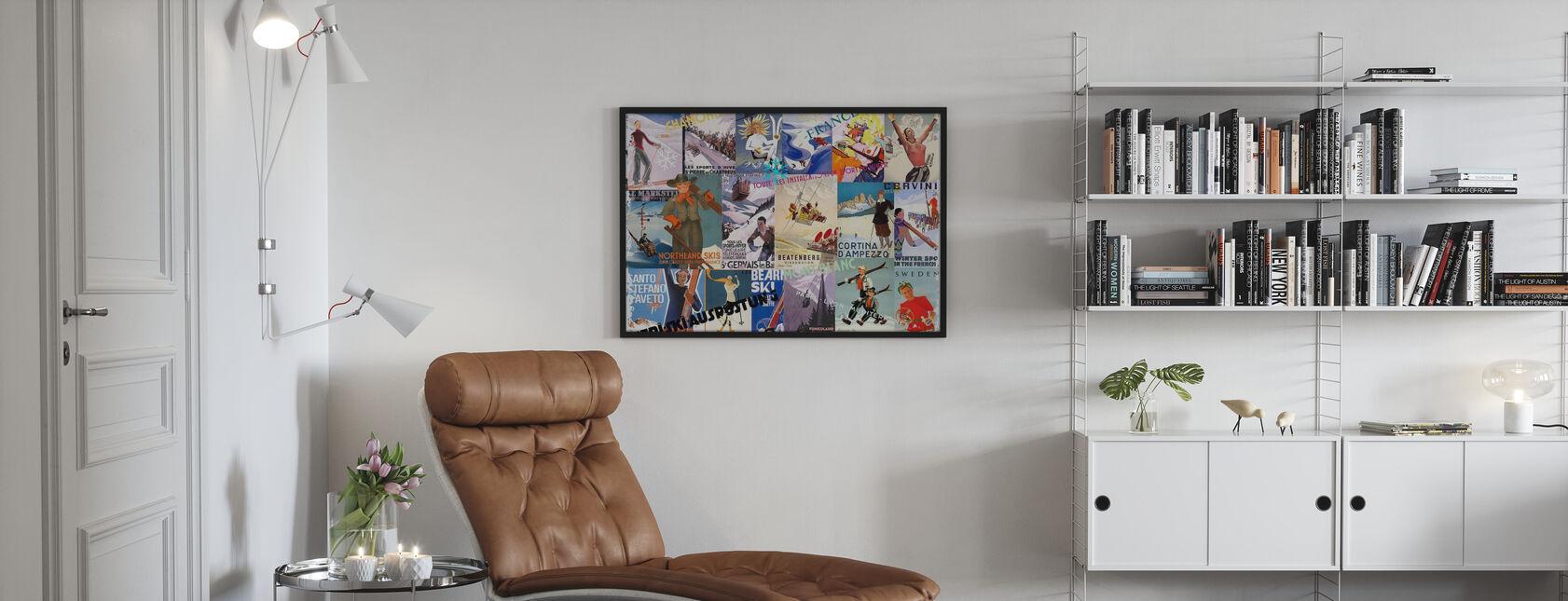 Skigebiete Collage - Poster - Wohnzimmer