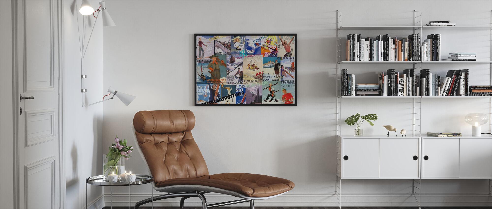 Ski Resorts Collage - Poster - Living Room