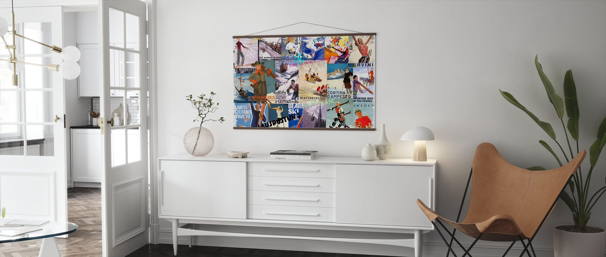 Ski Resorts Collage - Poster - Living Room