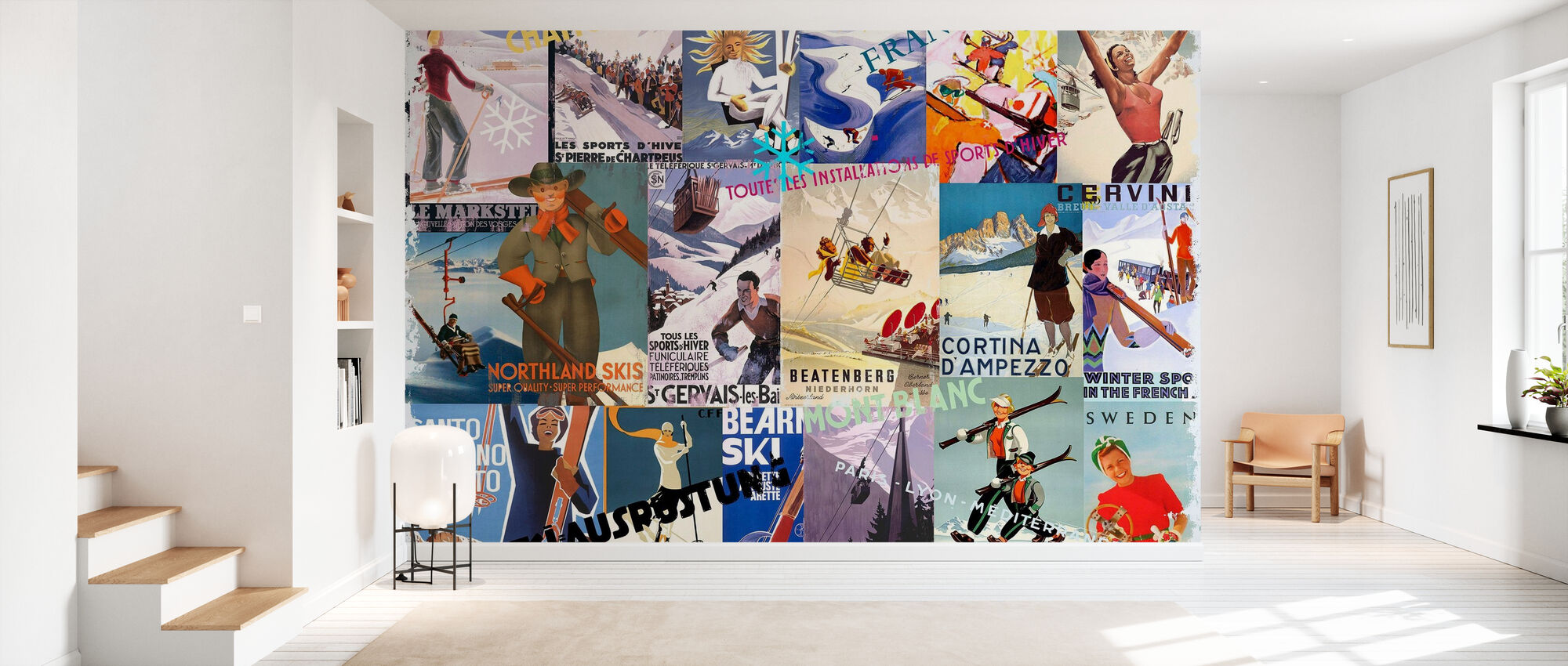 Ski Resorts Collage - Wallpaper - Hallway