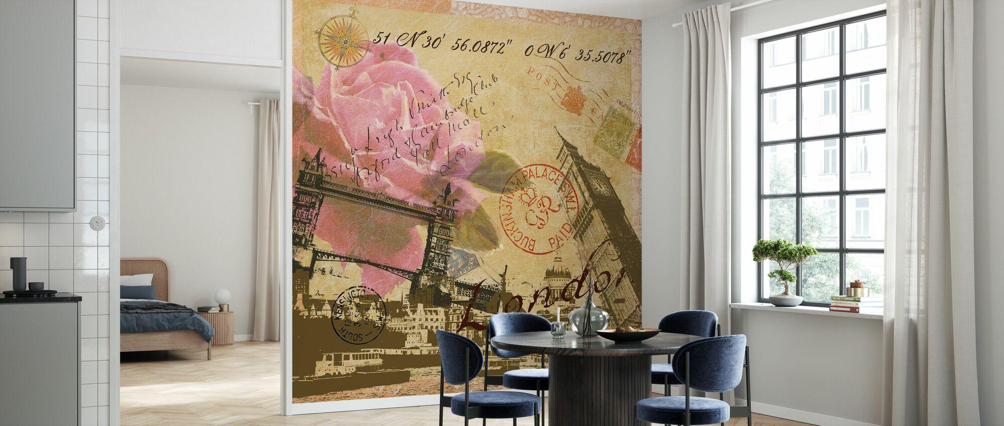 London Collage - Tapet - Kjøkken