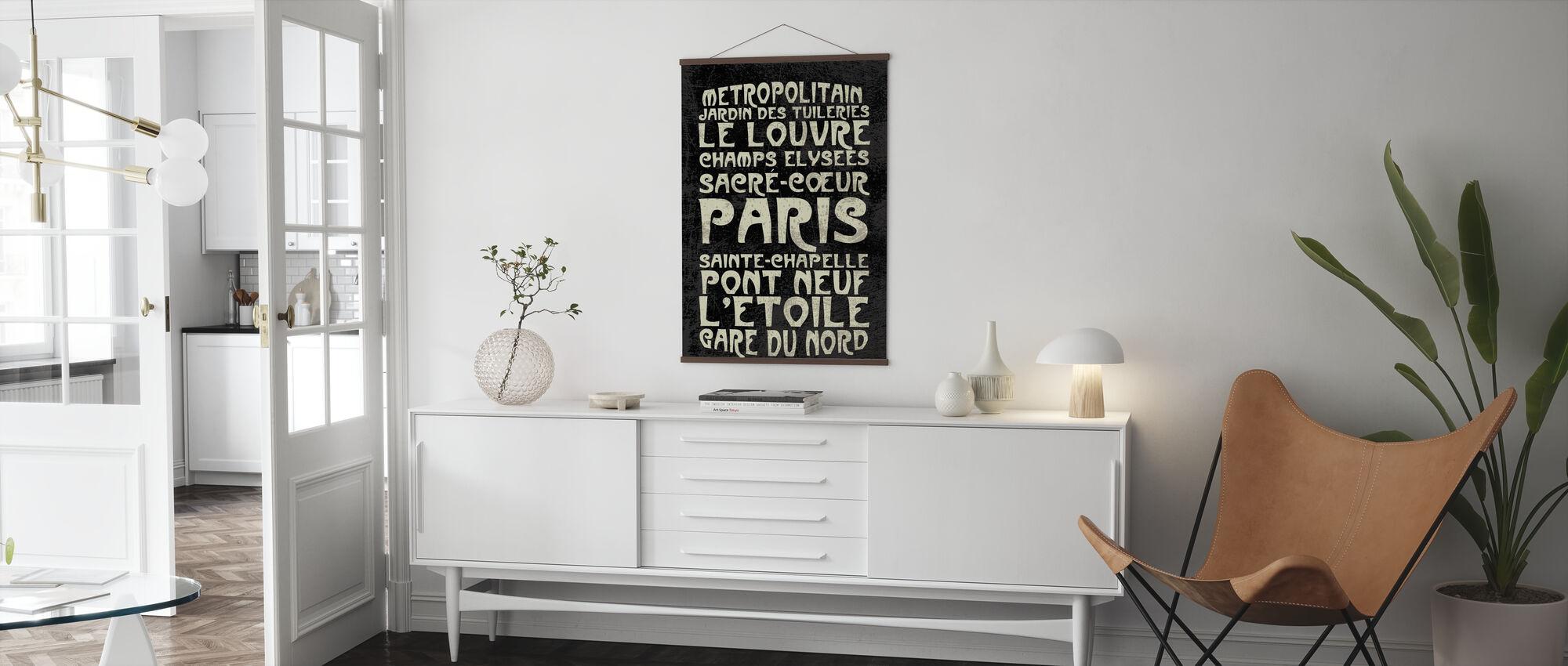 Paris Sign - Poster - Living Room