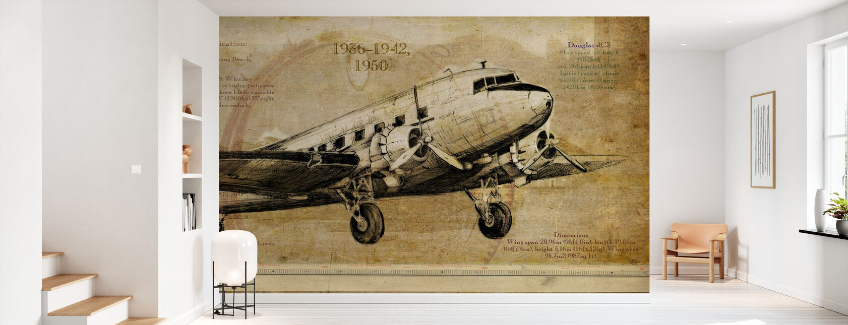 Lentokone - Tapetti - Aula