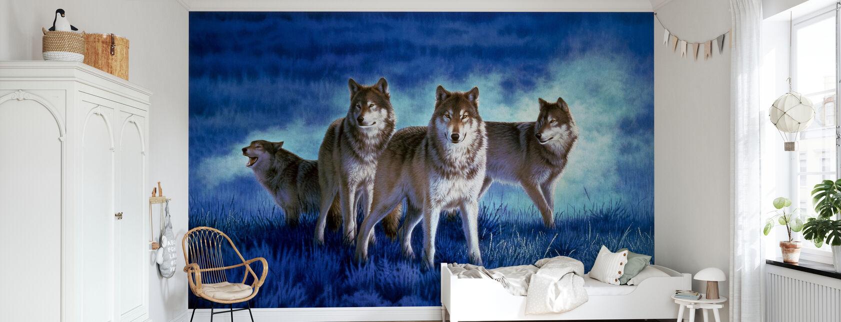 Les loups - Papier peint - Chambre des enfants