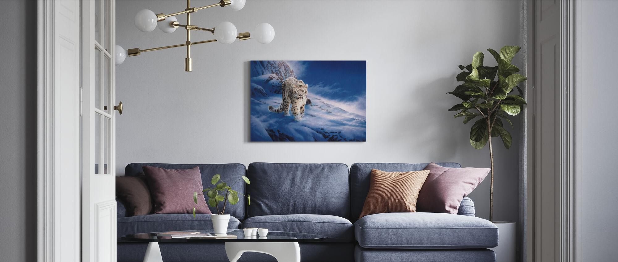 Snow Leopard - Canvas print - Living Room