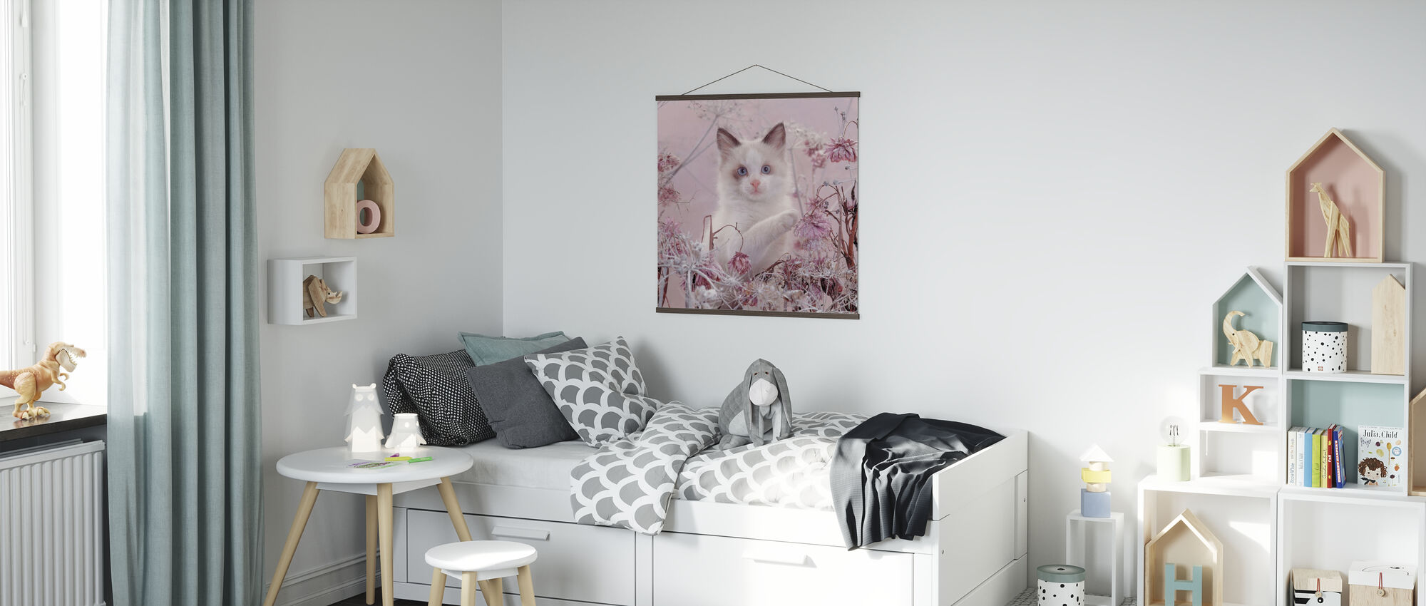 Pink Cat - Poster - Kids Room