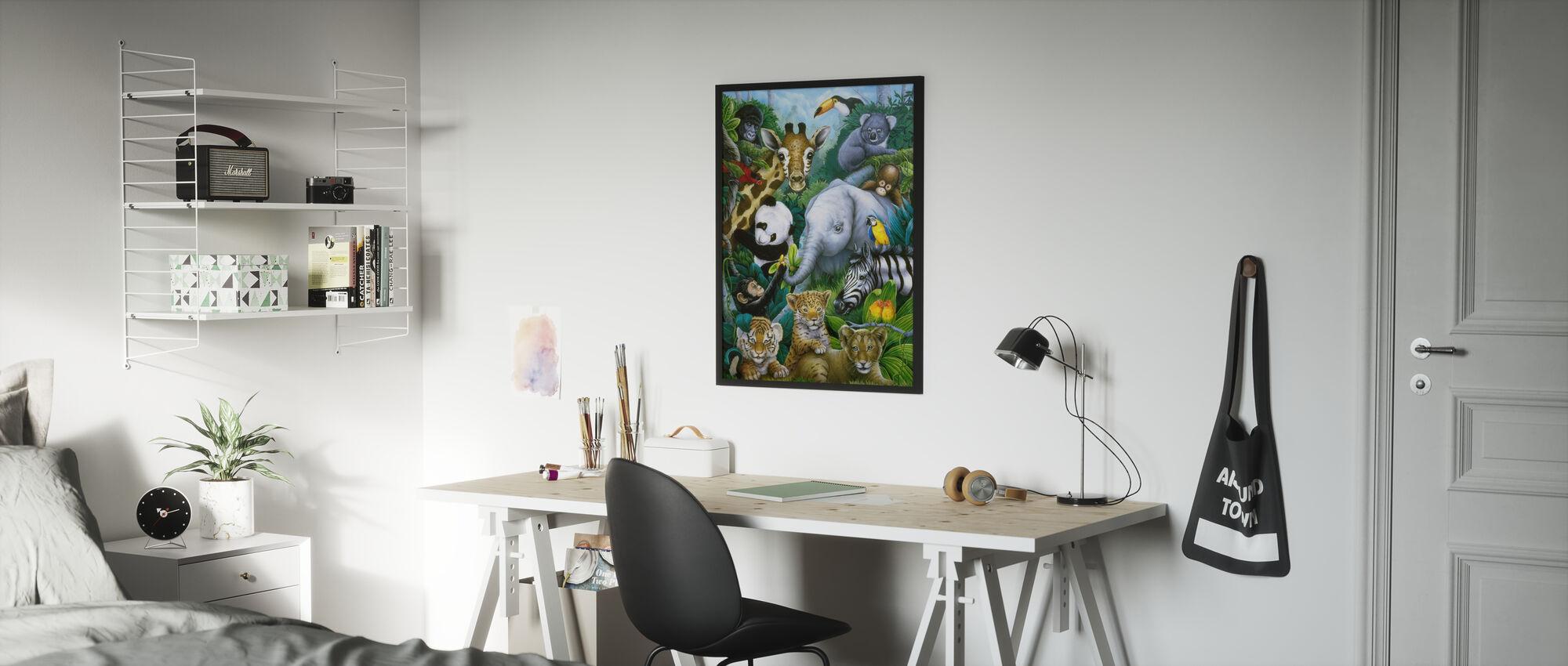 Animali giungla - Poster - Camera dei bambini