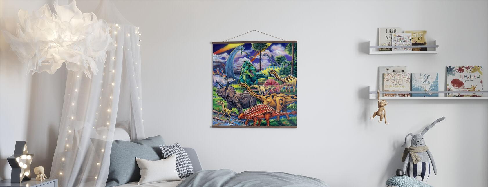 Dinosaur Friends - Poster - Kids Room
