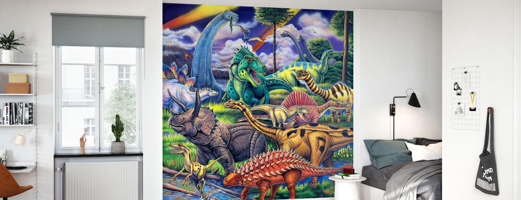 Amis des dinosaures - Papier peint - Chambre des enfants
