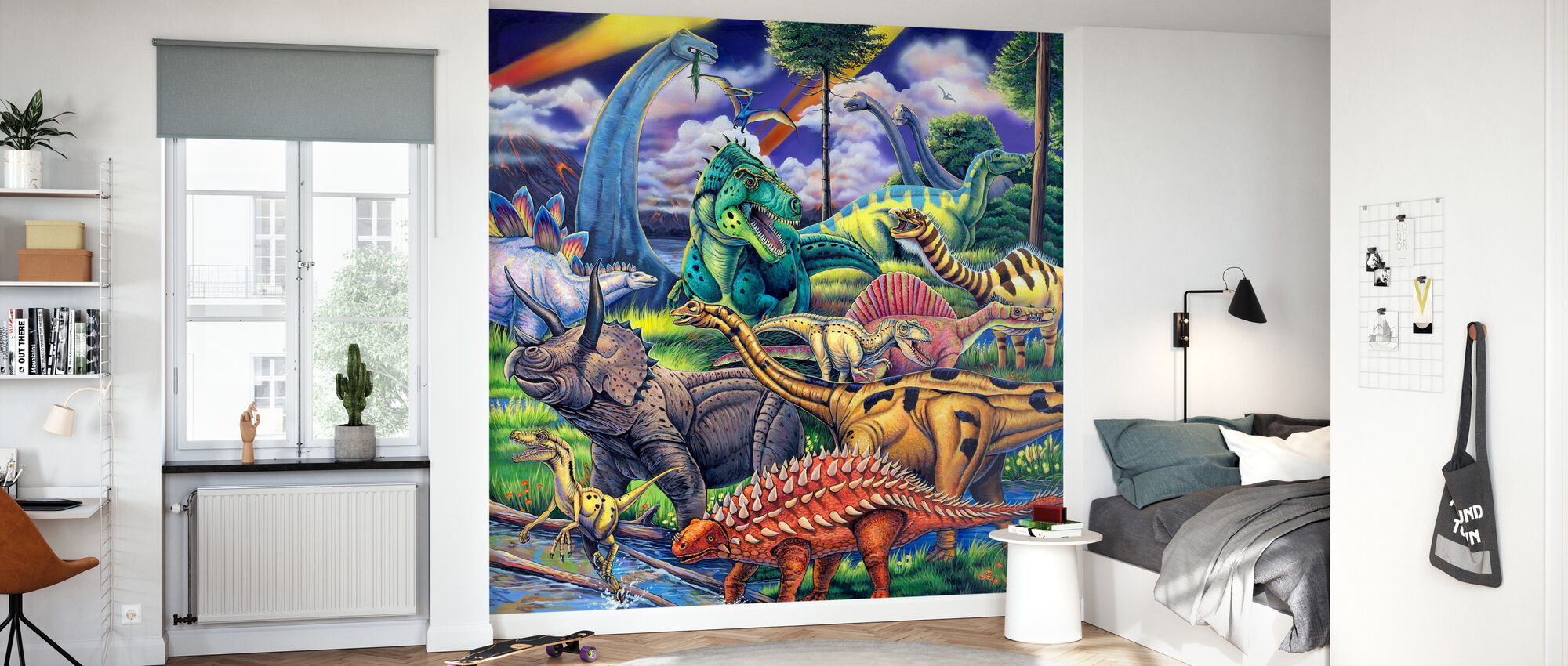 Dinosaur Venner - Tapet - Barnerom