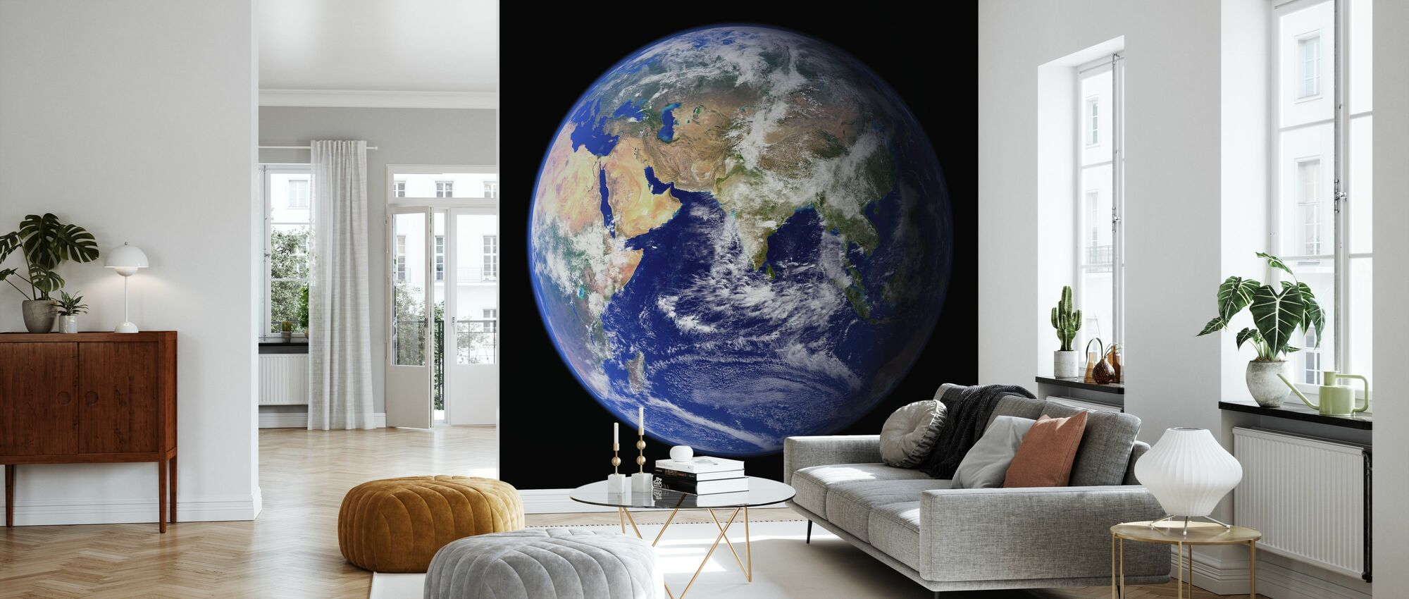 Erde - Tapete - Wohnzimmer