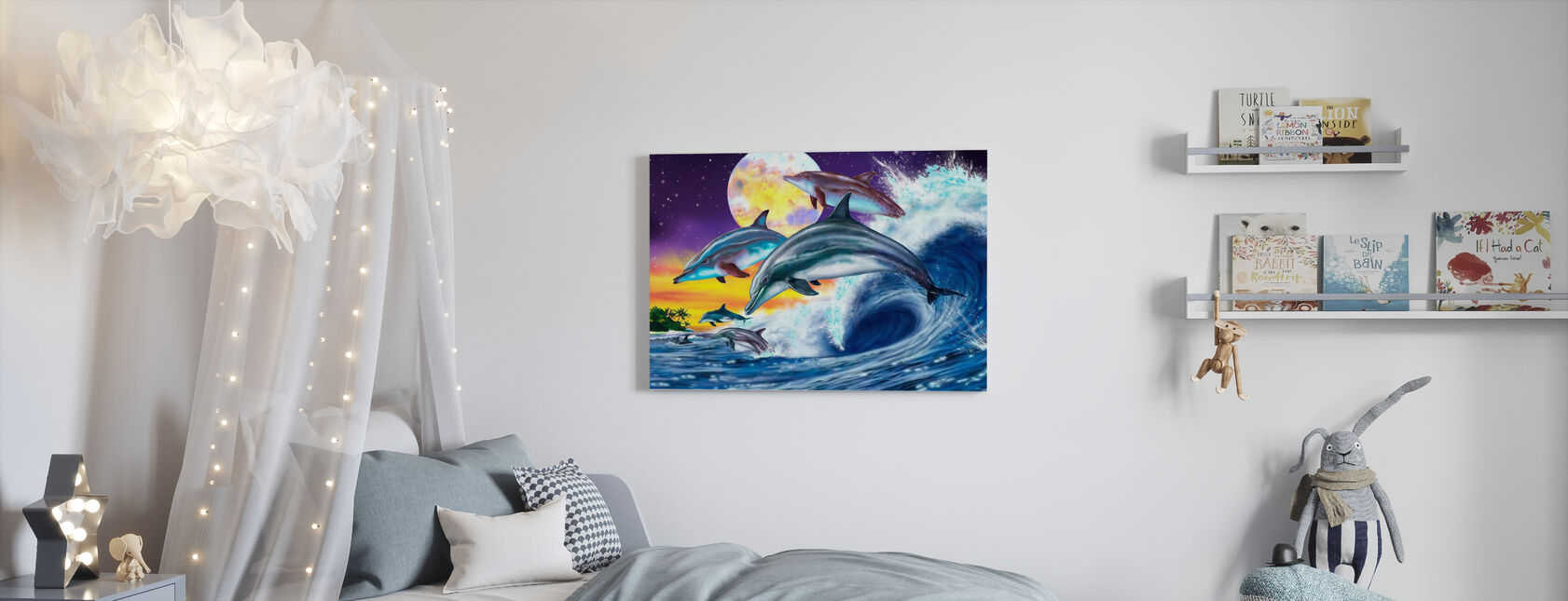 Dolphins - Canvas print - Kids Room