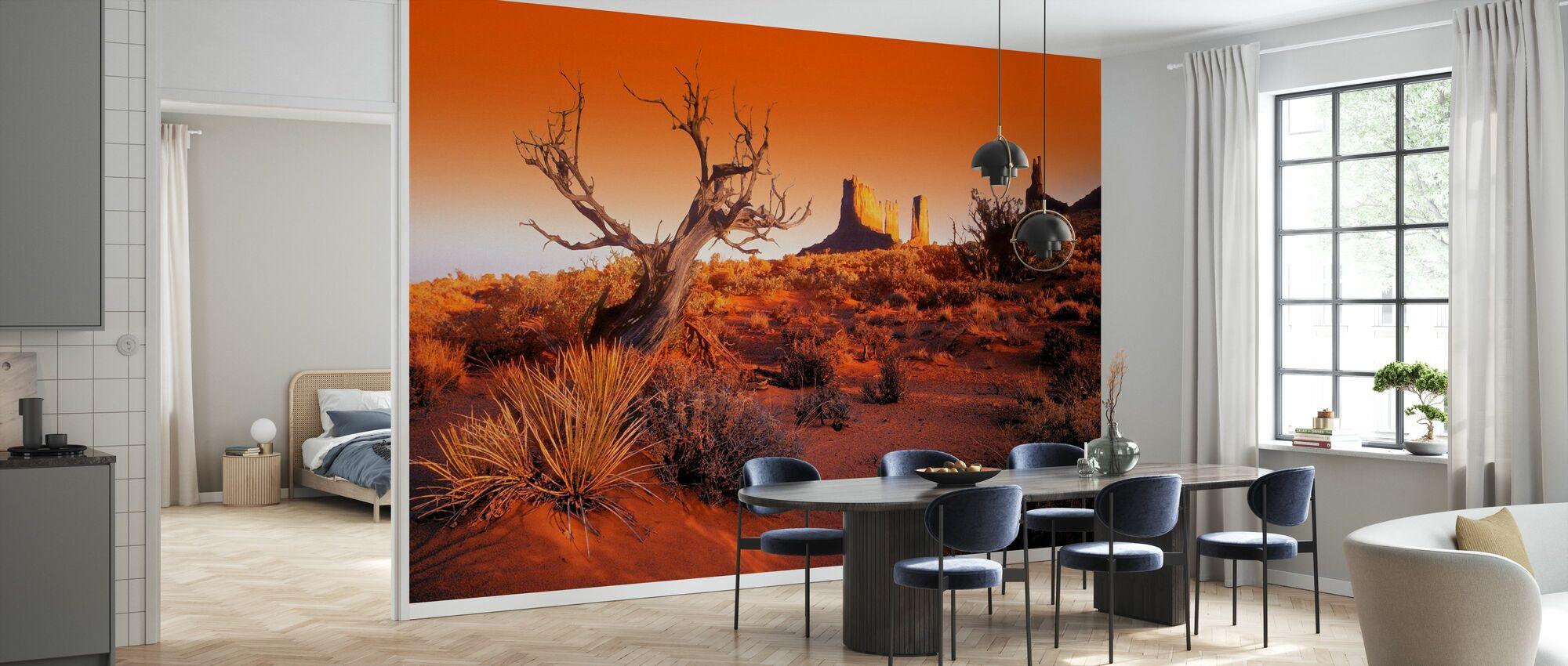 Red Landscape - Wallpaper - Kitchen