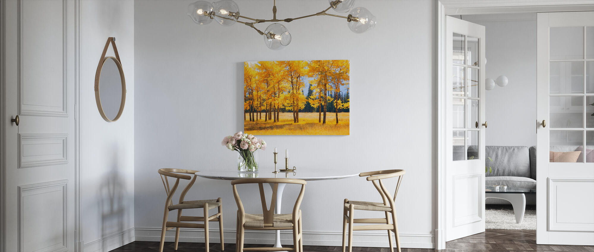 Yellow Autumn Trees - Canvas print - Kitchen