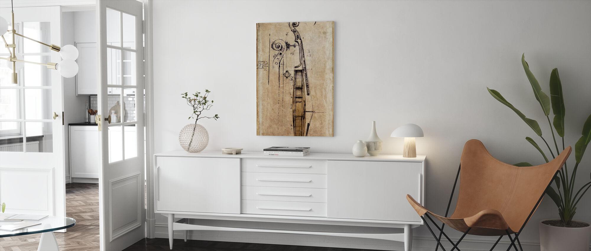 Violin - Canvas print - Living Room