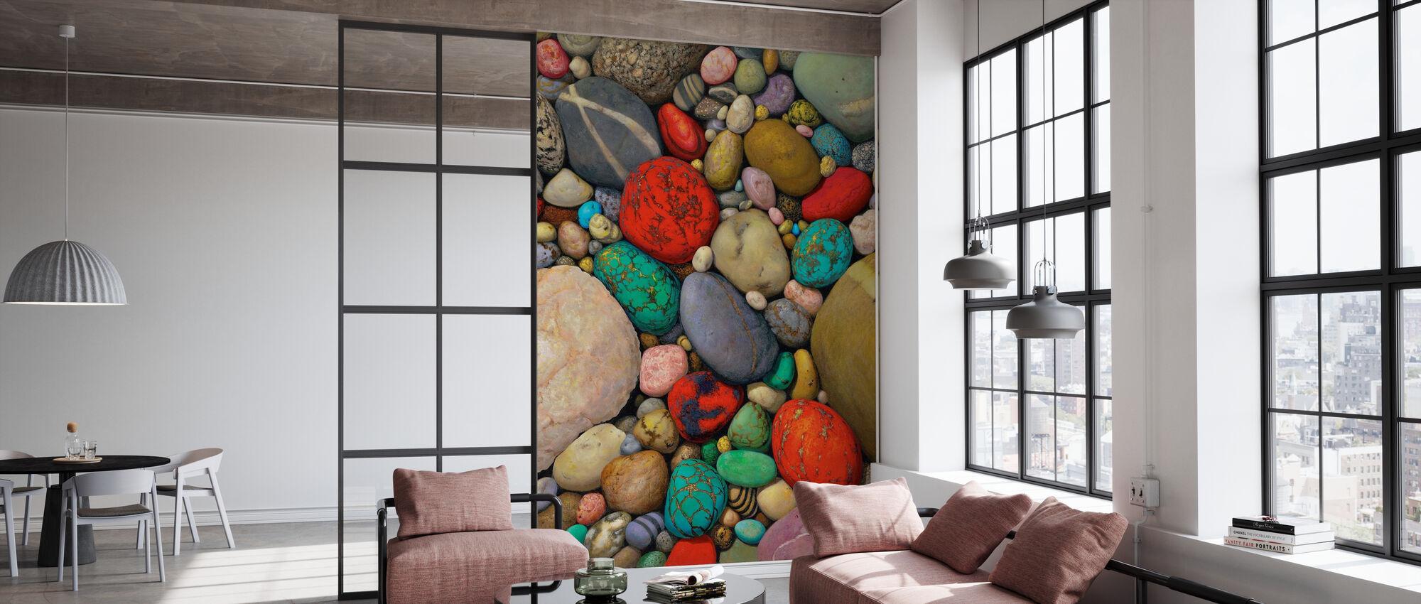 flerfarget steiner - Tapet - Kontor