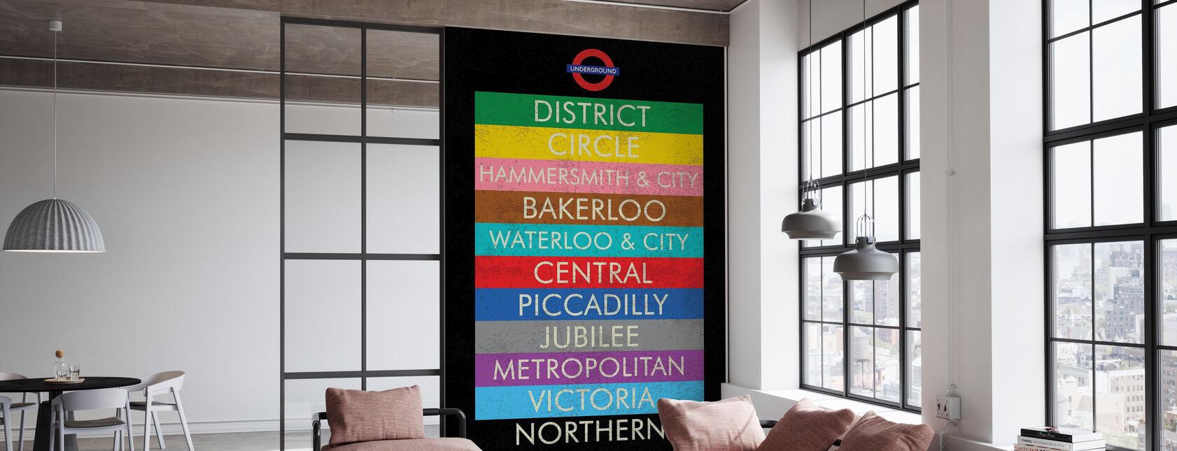 London Underground Sign - Wallpaper - Office