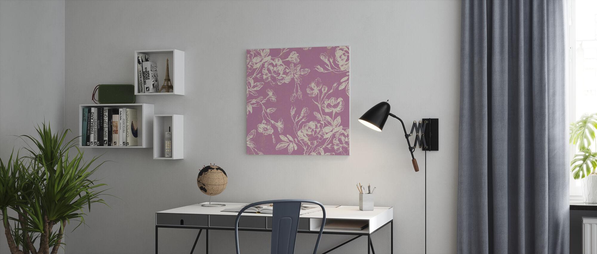 Roze Bloemen - Canvas print - Kantoor