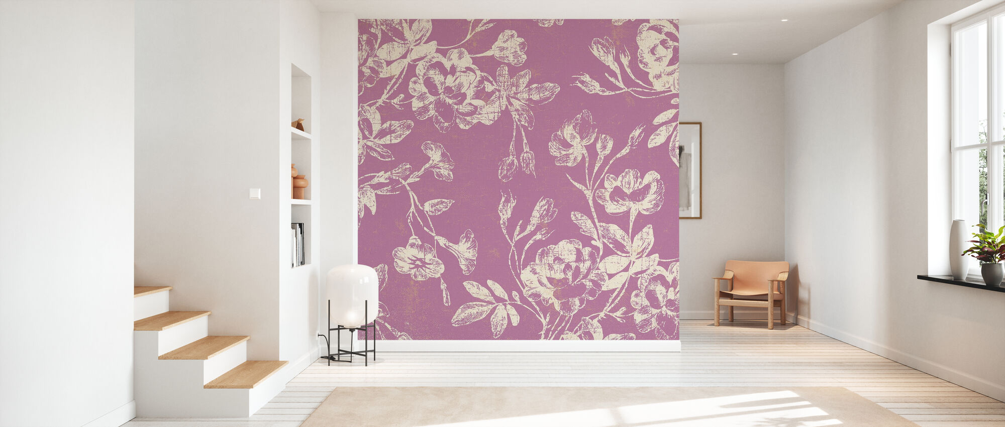 Pink Flowers - Wallpaper - Hallway