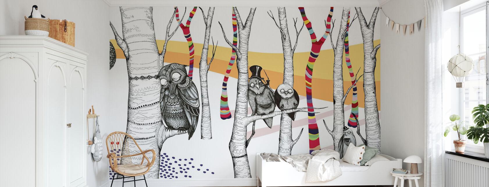 Hornstull Owls - Tapete - Kinderzimmer