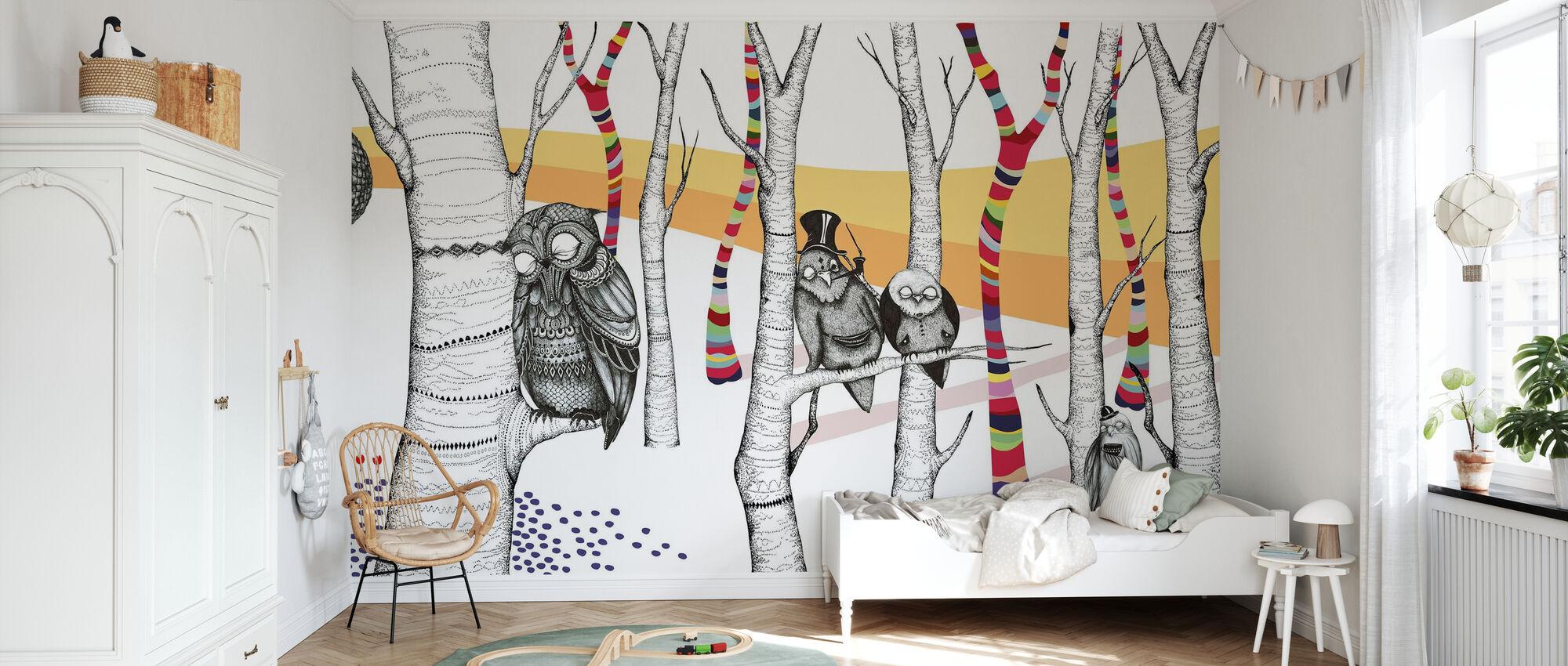 Hornstull Owls - Wallpaper - Kids Room