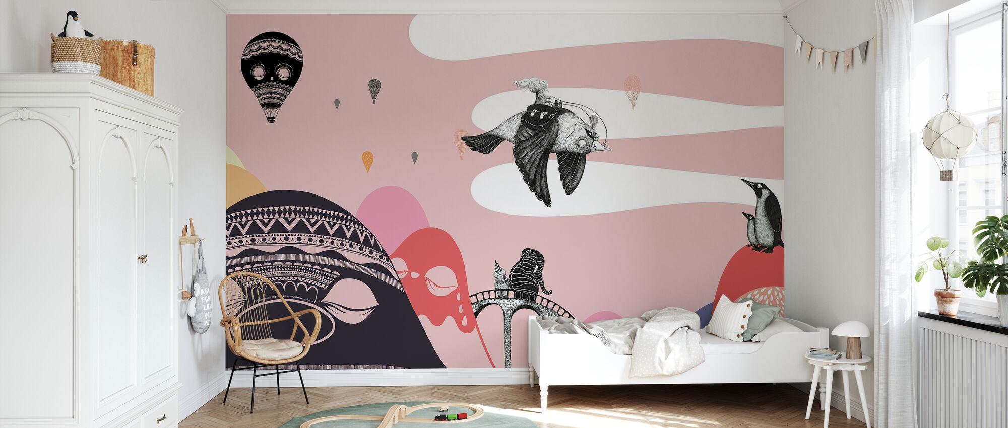 Hornstull Bird - Wallpaper - Kids Room