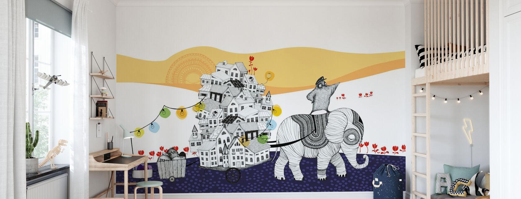 Hornstull Elephant - Wallpaper - Kids Room
