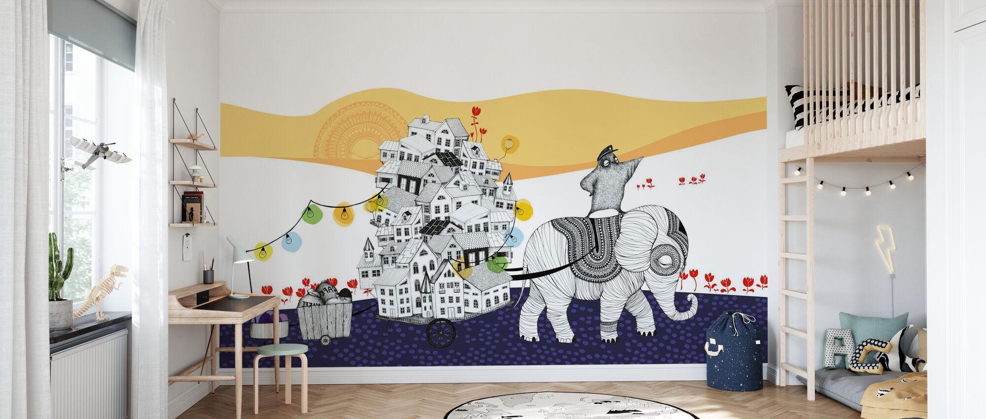 Hornstull Elefant - Tapet - Barnrum