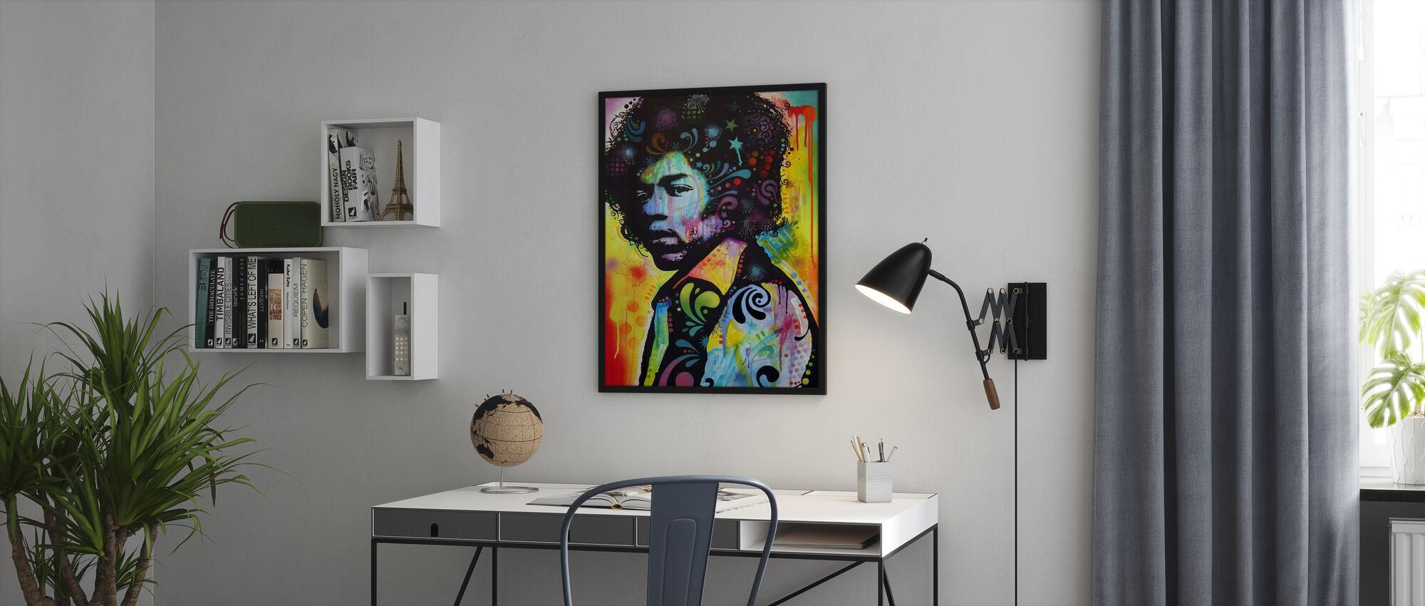 - Hendrix - Kehystetty kuva - Toimisto
