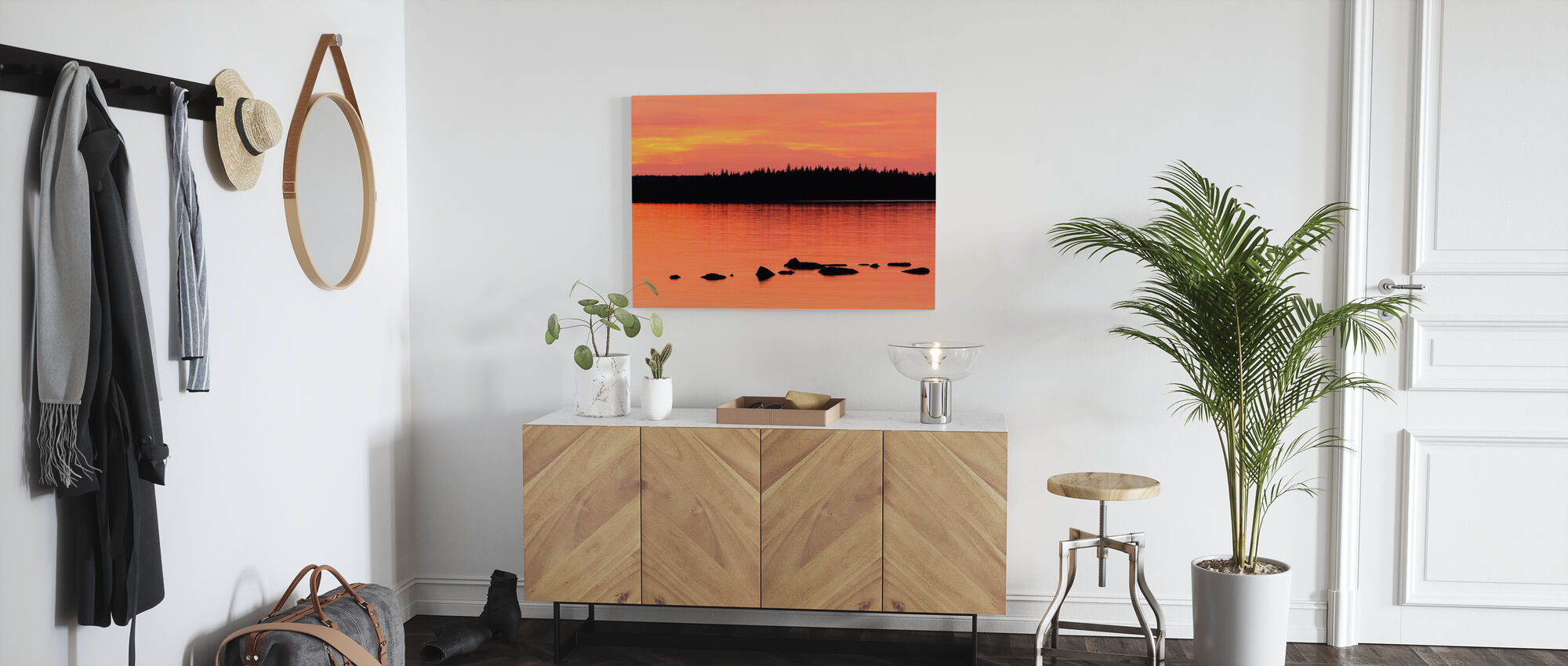 Sundown, Gotland - Canvas print - Hallway