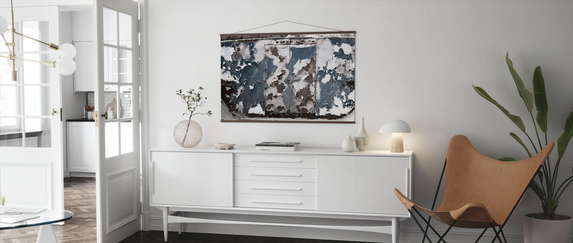 Rusty Old Door - Poster - Living Room