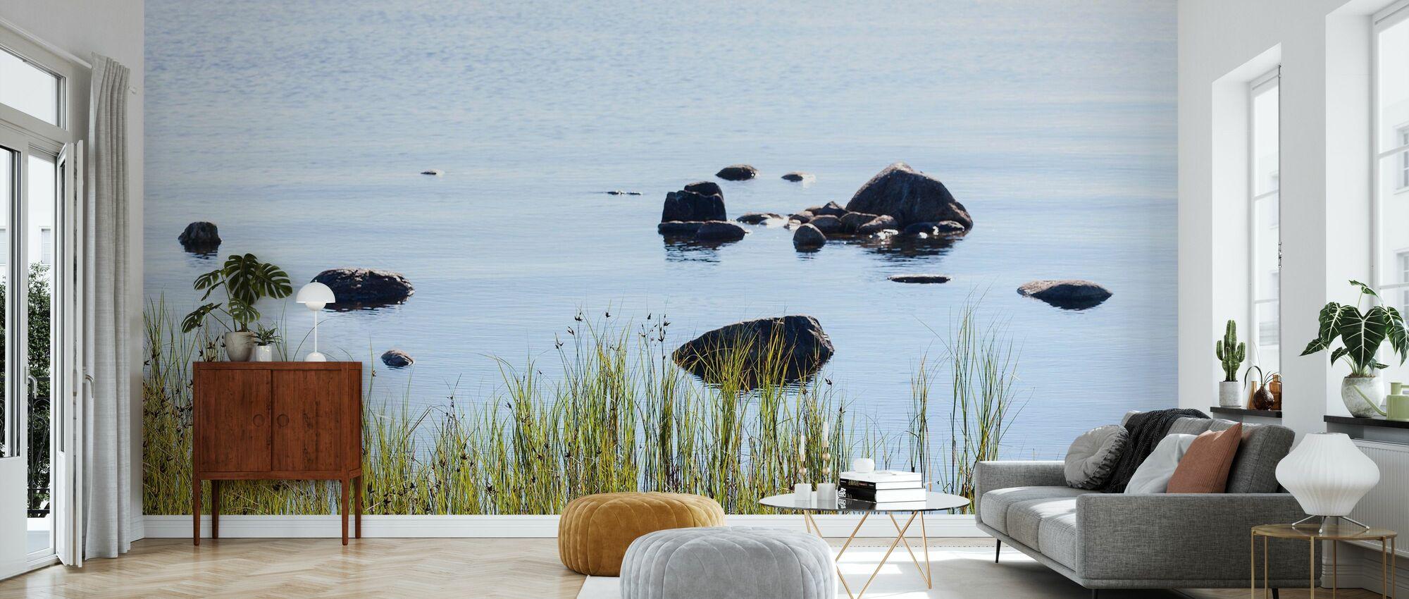 Stenar i Vatten, Gotland - Tapet - Vardagsrum