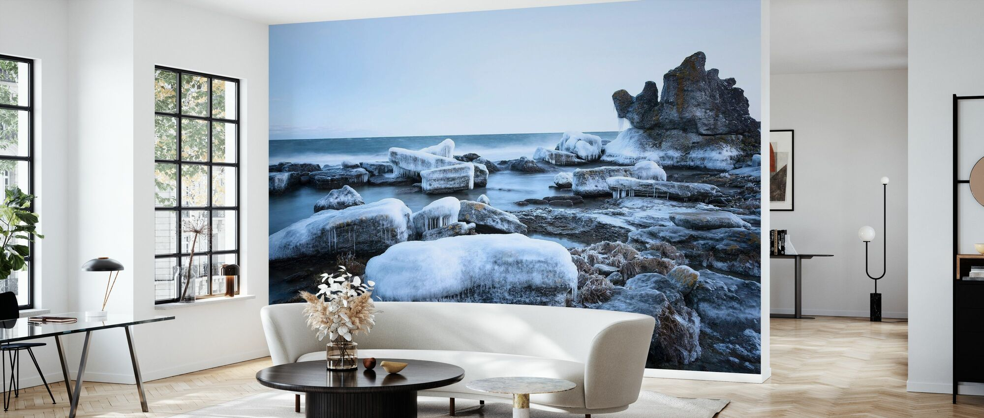 Ice Landscape, Gotland - Wallpaper - Living Room