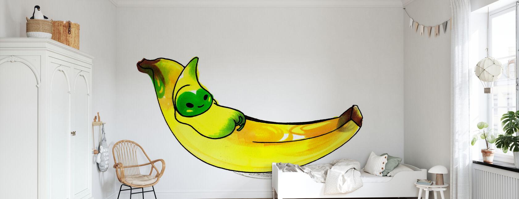 Banane - Tapete - Kinderzimmer